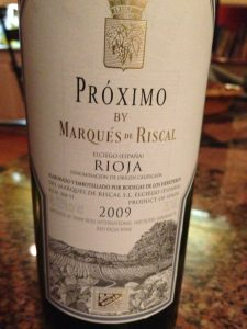 Red Wine Bottle of Rioja