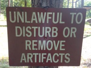 A sign in the protected area