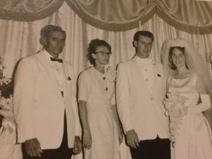 From left Grand Father, Theda Faye, Aunt and Uncle