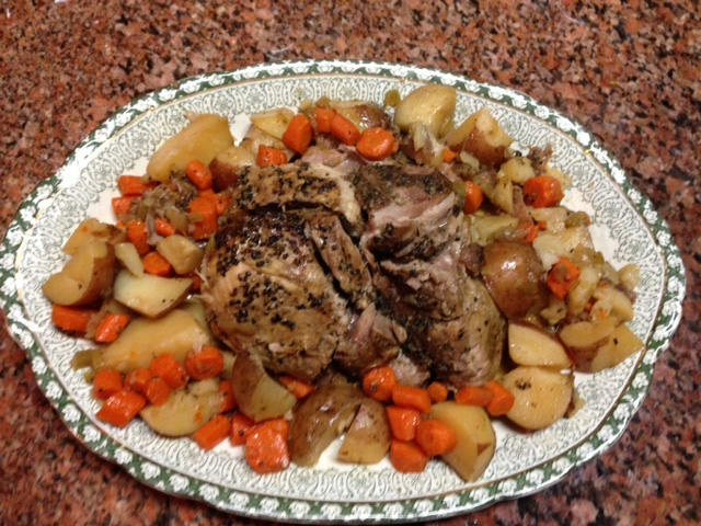 Easiest Meal Ever with Roast, Potatoes and Carrots