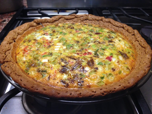 Smoky Egg Pie with Sausage and Onions             Date: 10-22-16