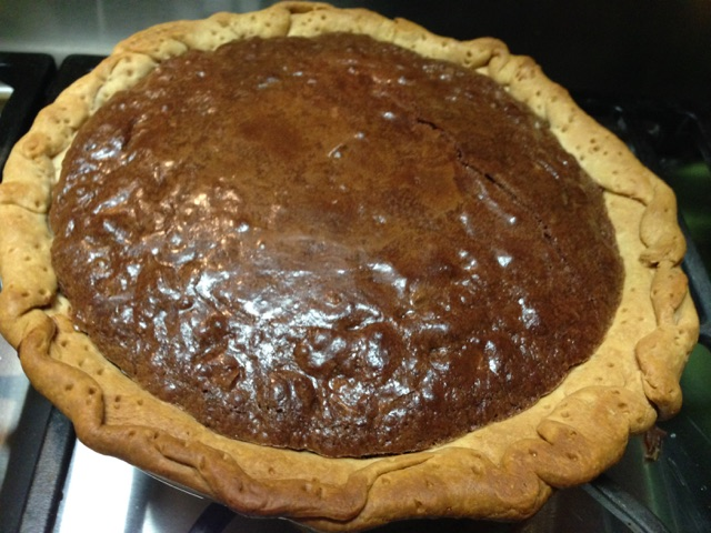 Southern Comfort Chocolate Pie www.diningwithmimi.com