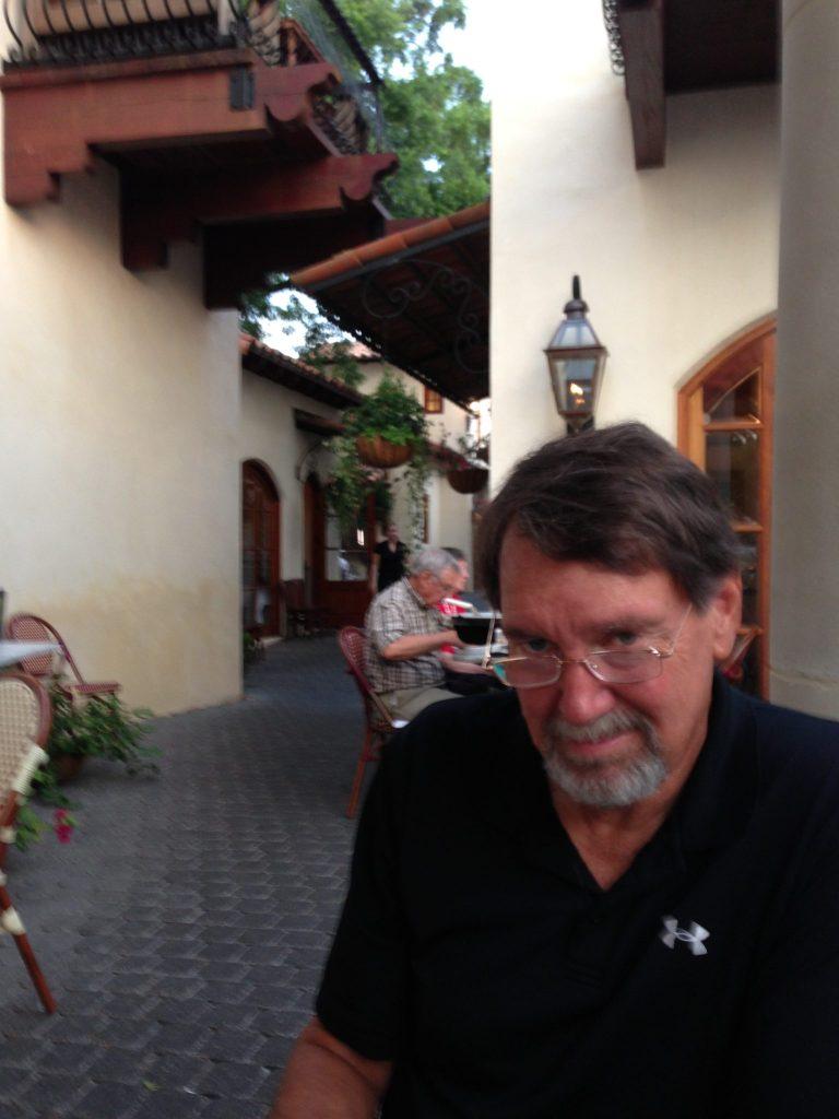 Handsome Guy at Outdoor Restaurant