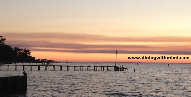 Sunset by Boat Launch with pier