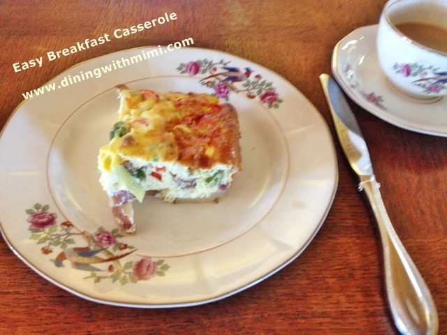 A slice of Easy Breakfast Casserole