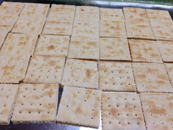 Saltines waiting for the hot chocolate hook-up www.diningwithmimi.com