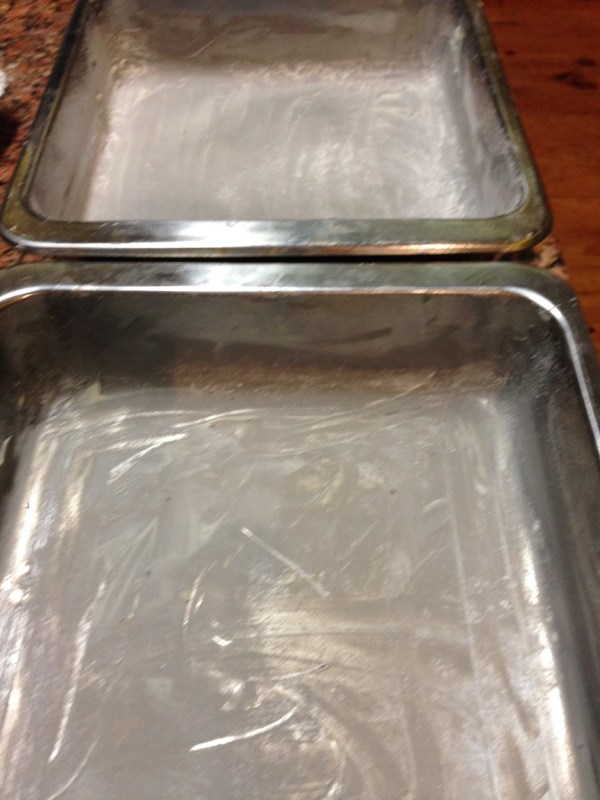 Grease & flour pans