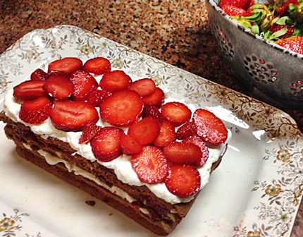 Chocolate with Strawberries and Cream