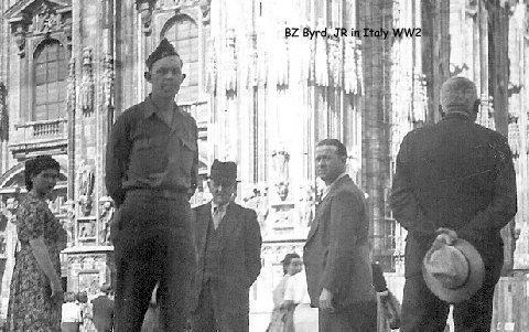 Benjamin Z Byrd in Italy WWII www.diningwithmimi.com