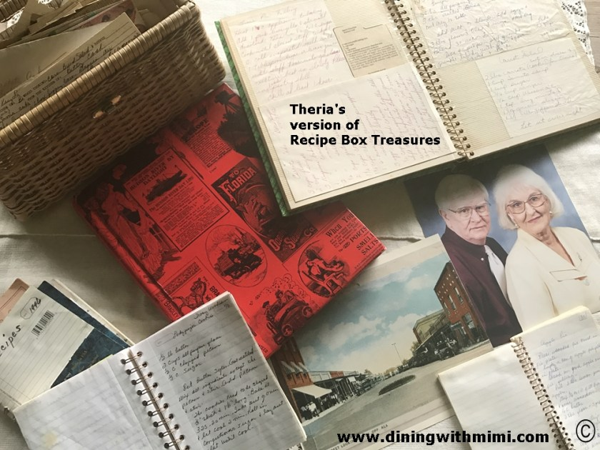 Recipe Box Treasures www.diningwithmimi.com