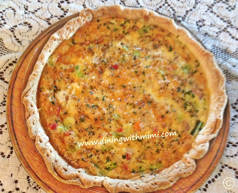 Quiche Albacore Tuna Spiced Up ? Wow !