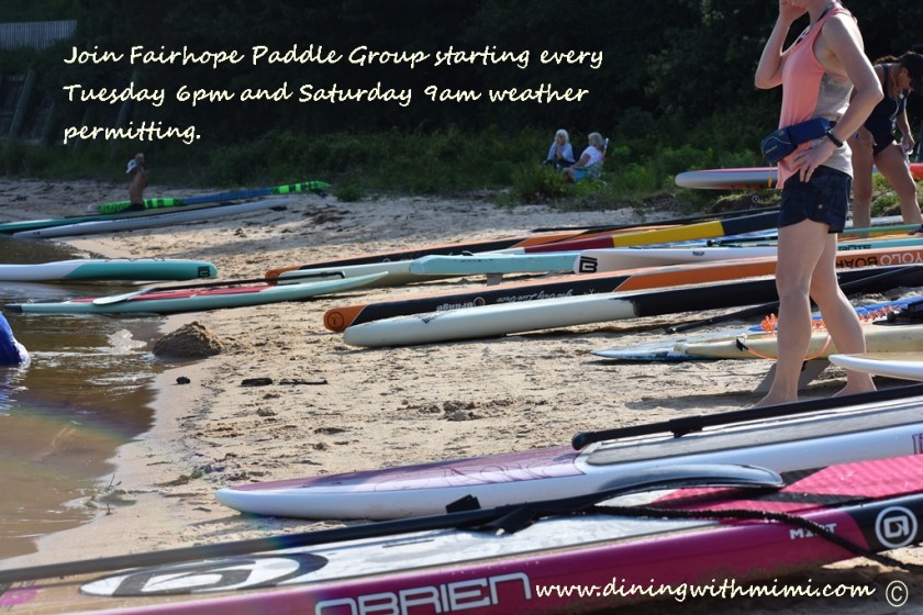 Lots of Boards from race Join Fairhope Paddle Group www.diningwithmimi.com