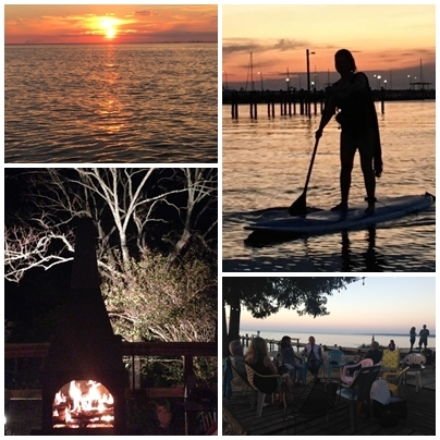 Sunset and life in Fairhope and Mimis Take on Fairhope Film Festival www.diningwithmimi.com