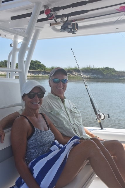 Wonder Woman and First Mate  on day 2 for Fish to Table- Sriracha Kissed Fresh Snapper and More www.diningwithmimi.com