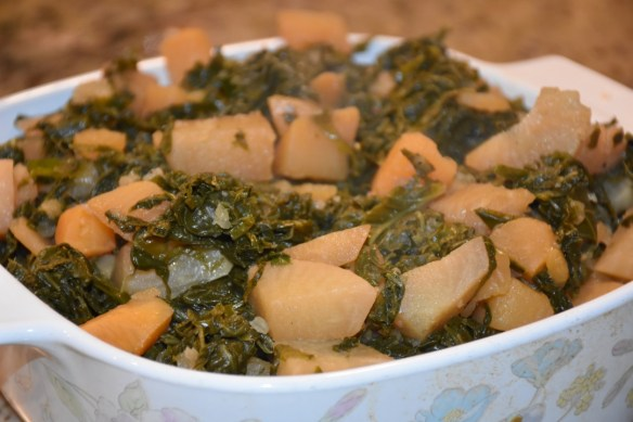 Salubrious Turnip Greens and Roots www.diningwithmimi.com