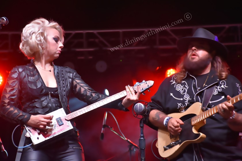 Beauty and Long sharing the stage for Brains, Beauty and Slaying a Guitar as Samantha Fish www.diningwithmimi.com