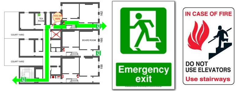 Fire Safety and Evacuation Plans | Fire Escape Plan | DIN LLP