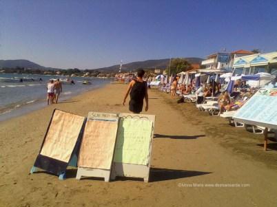 Oferte de toate felurile pe plaja din Laganas