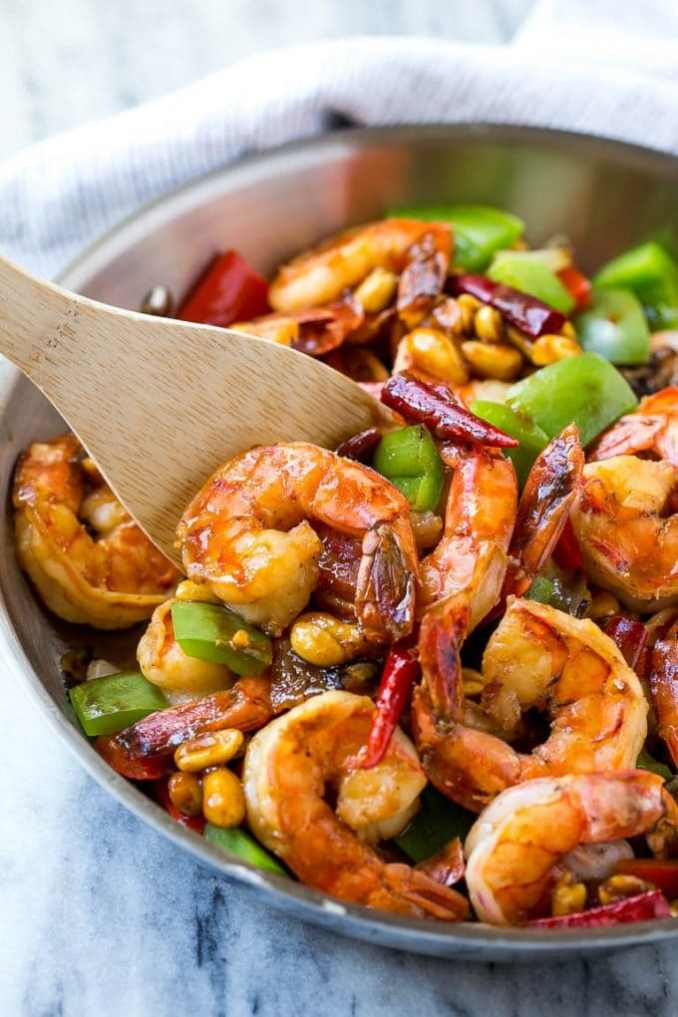 Kung Pao Shrimp - Dinner at the Zoo