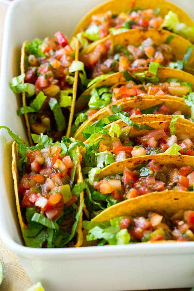 Oven Baked Beef Tacos - Dinner at the Zoo