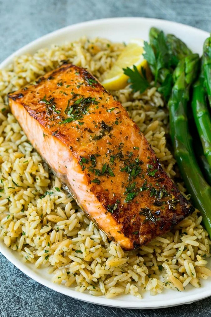 Broiled Salmon Fillets - Dinner at the Zoo