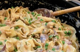 Adding the noodles