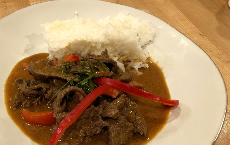 Authentic Thai Panang Beef Curry