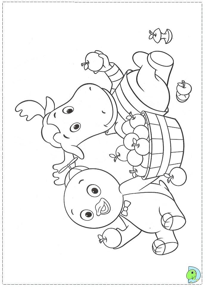 the backyardigans coloring page dinokids