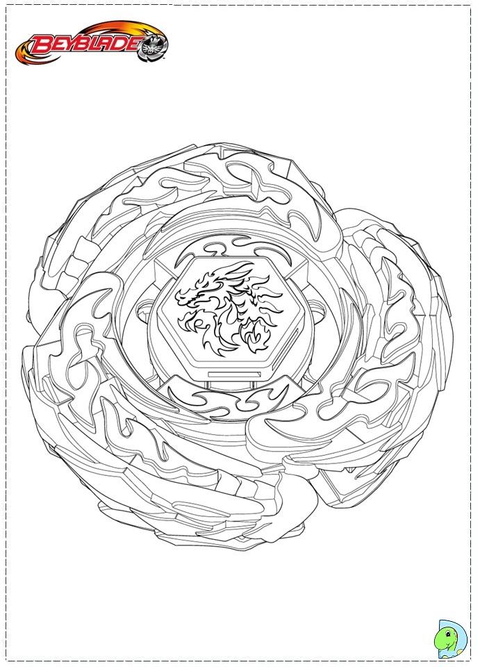 beyblade coloring page dinokids