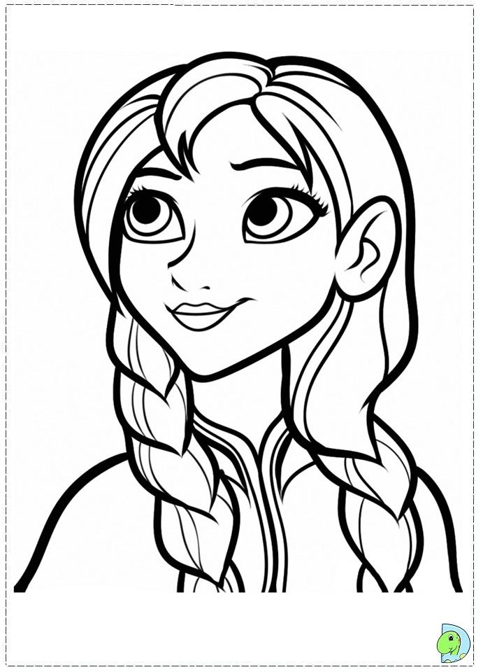 Anna frozen colorear dibujos para colorear de anna y elsa