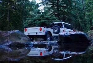 Dinoot Jeep Trailers Jeep Trailer four wheel drive trail Lightweight Fiberglass DIY Tub Kit