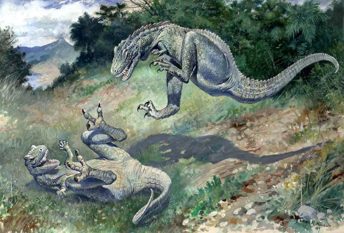 dinosaurs fighting