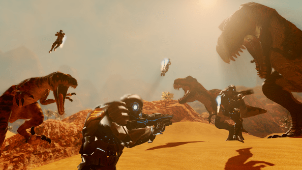 dinosaur shooter game