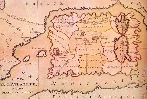 carte de l'Atlantide