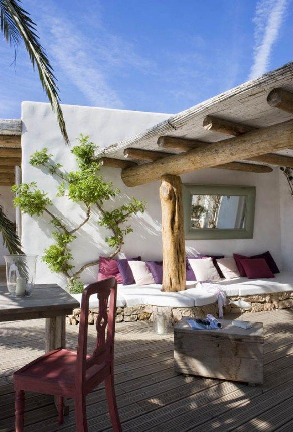 terraza ibicenca Formentera mediterráneo