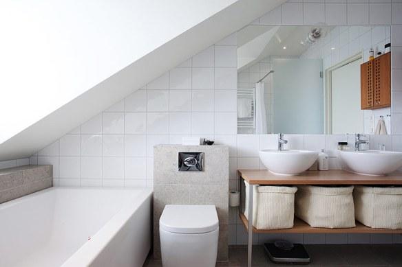 decoración baño nórdico blanco