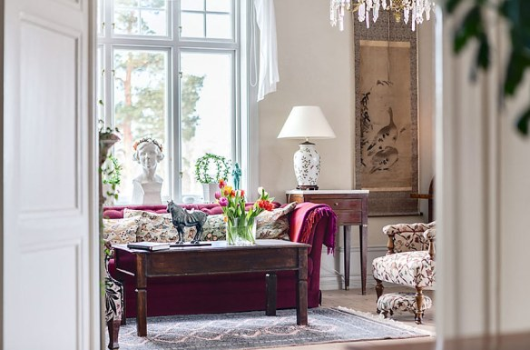 decoración salón elegante clásico romántico