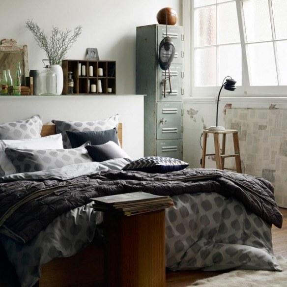 Ropa de cama mobiliario habitación acogedor vintage