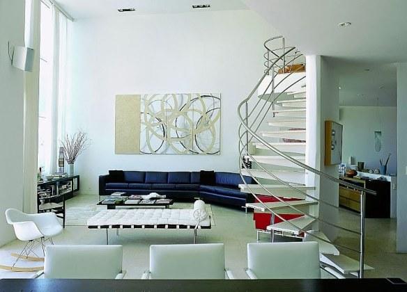 salón moderno blanco