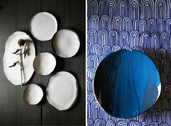 vajilla cerámica orgánica de artesanía