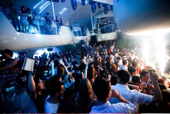 decoración night club