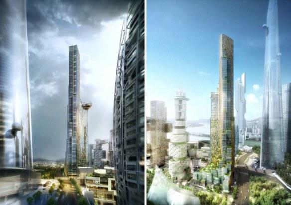 Render 3d edificio arquitectura