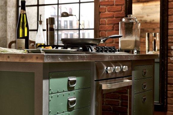 Cocina vintage industrial