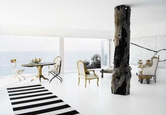 Amalgama de estilos, ambiente mediterráneo, sala de estar.