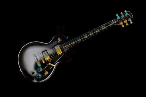 gibson's les paul custom electric guitar