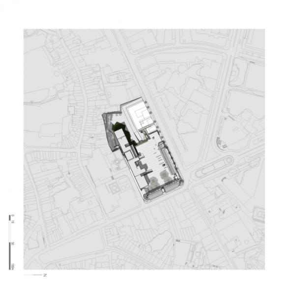 Plano situacion Centro Internacional para las Artes José de Guimarães