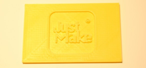 Just Make, impresion 3d, logo