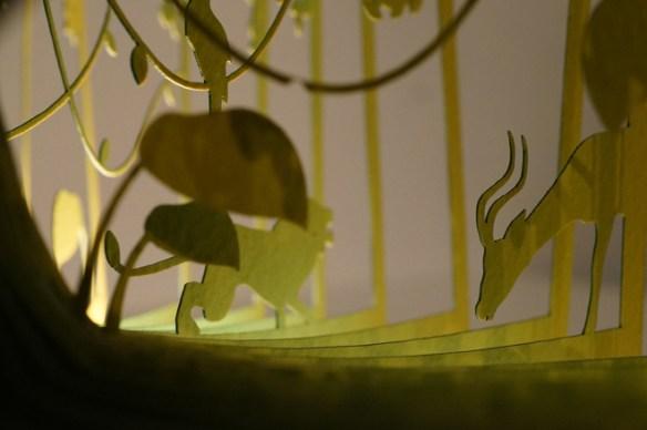 diorama El libro de la selva, león
