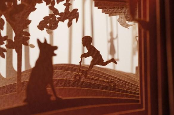libro 3d, diorama circular, hogar dulce hogar, niño
