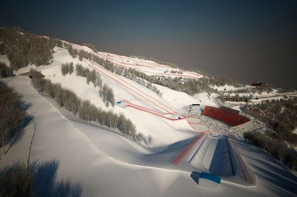 Juegos Olimpicos de Sochi, Rosa Khutor Alpine Center
